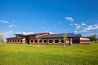 Exterior Image of the Warfighter and Family Support Center at McGuire AFB in New Jersey by Jeffrey Sauers of Commercial Photographics