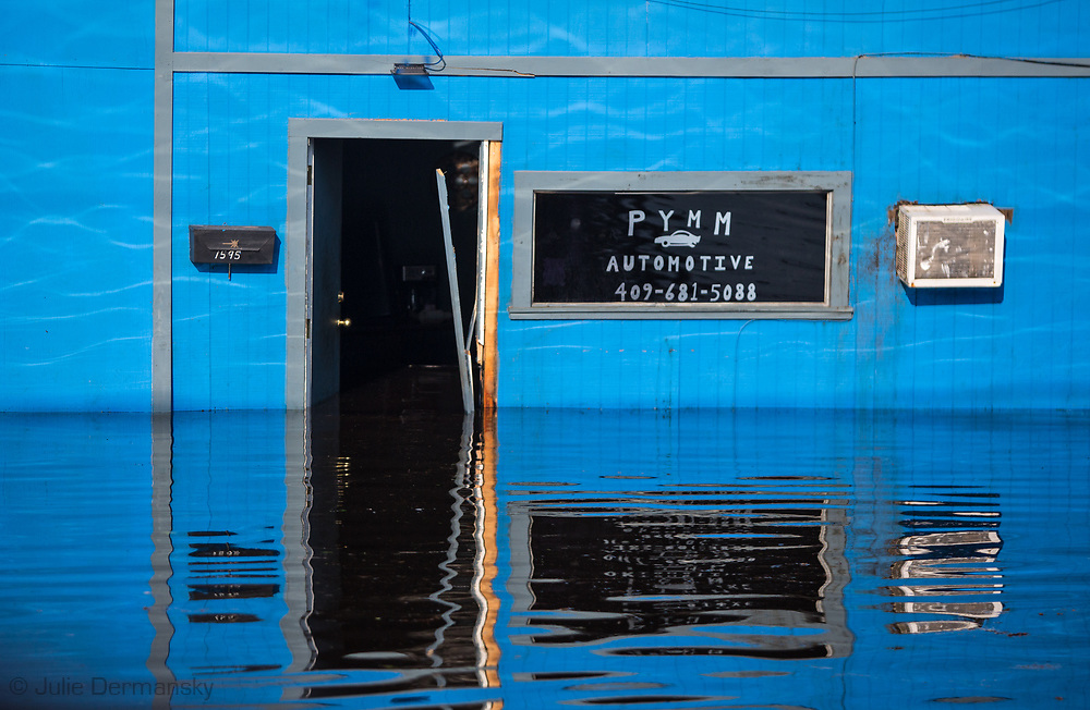Sept 1, 2017, flooded business in Vidor, Texas. Hurricane Harvey, was downgraded to a tropical storm when it flooded Vidor, Texas and the surrounding area.