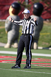 17 November 2012:  Referee Tom Stapleton during an NCAA Missouri Valley Football Conference football game between the North Dakota State Bison and the Illinois State Redbirds at Hancock Stadium in Normal IL