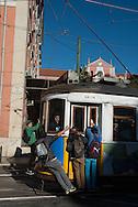 Portugal. Lisbon. Bica area  / Quartier de Bica . Lisbonne