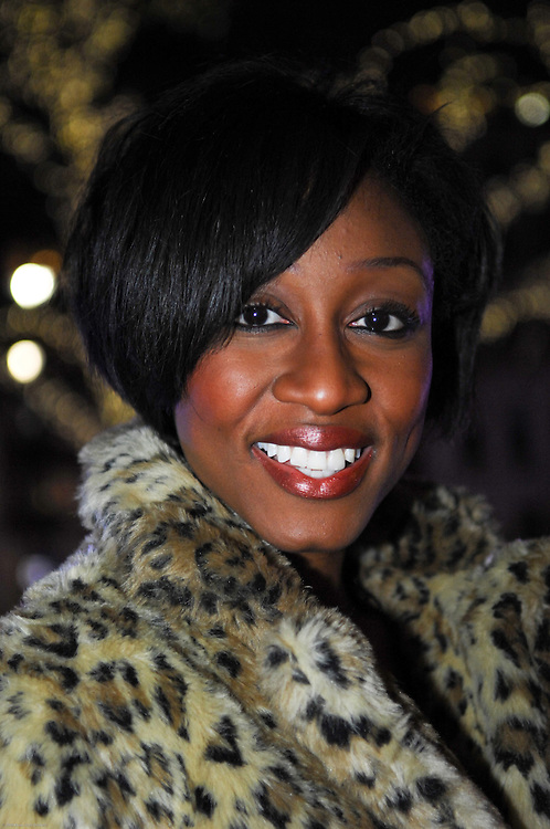 BEVERLEY KNIGHT, singing at Christian Aid's Big Christmas Sing at the Natural History Museum Ice Rink on 03.12.09