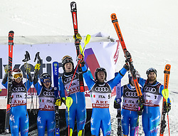 12.02.2019, Aare, SWE, FIS Weltmeisterschaften Ski Alpin, Teambewerb, im Bild Team Italien (3. Platz) // bronze medalist Team Italy during Team competition of FIS Ski World Championships 2019. Aare, Sweden on 2019/02/12. EXPA Pictures © 2019, PhotoCredit: EXPA/ Johann Groder
