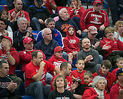 Fairport fans cheer at the end of a wrestling match at Fairport High School on Saturday, December 13, 2014.