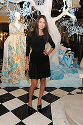 REENA HAMMER at the launch of the Claridge's Christmas Tree designed by John Galliano for Dior held at Claridge's, Brook Street, London on 1st December 2009.