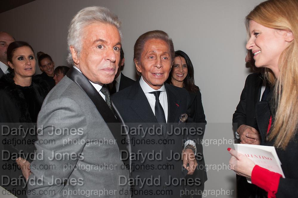 GIANCARLO GIAMMETTI; VALENTINO GARAVANI; Valentino: Master of Couture - private view. Somerset House, London. 28 November 2012