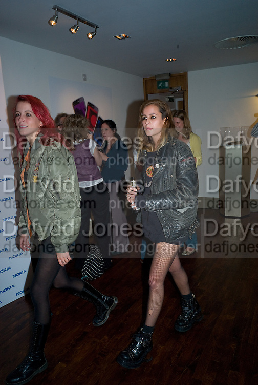 LAURA FRASER; ALICE DELLAL;, Nokia 'Capsule N96' ,  launch party. Century Club, 61-63 Shaftesbury Avenue, London *** Local Caption *** -DO NOT ARCHIVE-© Copyright Photograph by Dafydd Jones. 248 Clapham Rd. London SW9 0PZ. Tel 0207 820 0771. www.dafjones.com.