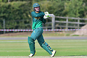 Greg Smith during the friendly match between Nottinghamshire County Cricket Club and Northamptonshire County Cricket Club at Grantham CC, Grantham, United Kingdom on 5 July 2017. Photo by Simon Trafford.