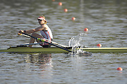 Hazenwinkel, BELGIUM,  Anna BEBBINGTON,  in the last stroke of the morning time trail, at the GB Rowing Senior Trials, on Sun,15.04.2007  [Credit, Peter Spurrier/Intersport-images]   [Mandatory Credit, Peter Spurier/ Intersport Images]. , Rowing Course, Bloso, Hazewinkel. BELGUIM