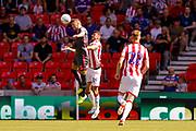 Leeds United defender Ben White (5), on loan from Brighton & Hove Albion,  during the EFL Sky Bet Championship match between Stoke City and Leeds United at the Bet365 Stadium, Stoke-on-Trent, England on 24 August 2019.