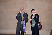 MR. AND MRS. MARTIN ROWSON, Opening of Rude Britannia. Tate Britain. Millbank. London. 7 June 2010. -DO NOT ARCHIVE-© Copyright Photograph by Dafydd Jones. 248 Clapham Rd. London SW9 0PZ. Tel 0207 820 0771. www.dafjones.com.
