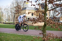Ellen van Dijk (NED) of Team Sunweb digs deep during Stage 1a of the Healthy Ageing Tour - a 16.9 km time trial, starting and finishing in Leek on April 5, 2017, in Groeningen, Netherlands.