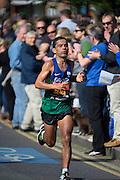 London. United Kingdom. 2014 London Marathon.  Narrow Street Limehouse, East London. Athletics 10:24:51  Sunday  13/04/2014  [Mandatory Credit; Peter SPURRIER/ Intersport Images],