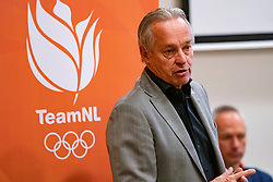 07-05-2019 NED: Press moment national volleyball team Men, Arnhem<br /> Roberto Piazza, the new national coach of the Dutch men's team, gives an overview of the group matches of the Golden European League, the OKT and the European Championship played in their own country / Joop Alberda