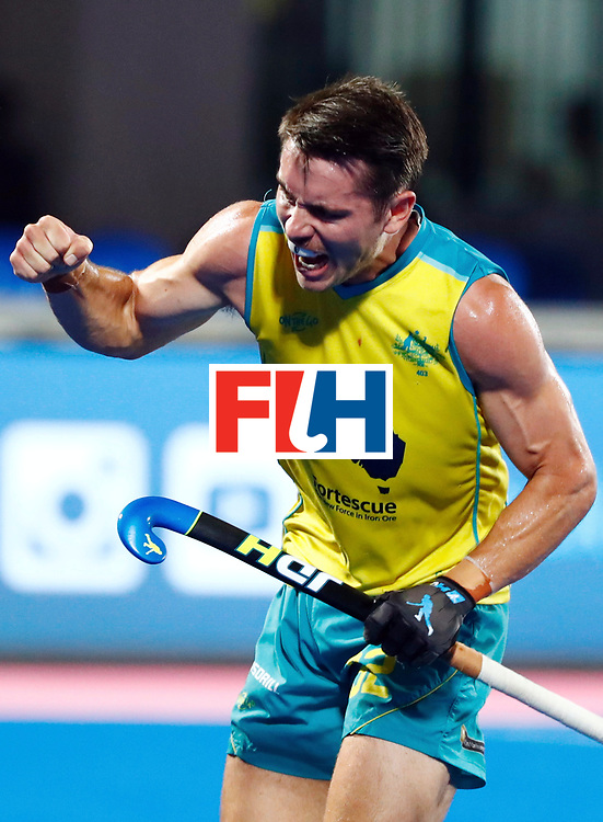 Odisha Men's Hockey World League Final Bhubaneswar 2017<br /> Match id: 20<br /> Australia v Germany<br /> Foto: Jeremy Hayward (Aus) scored 2-0<br /> COPYRIGHT WORLDSPORTPICS KOEN SUYK