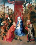 The Adoration of the Magi'.  Hugo Van Der Goes (c1435-1482). Oil on canvas.