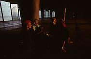 in front of the CNIT la Defense  Paris  France    coiffure sculpture du coiffeur plasticien Jean Philippe Pages. le palais du  CNIT a la défense  Paris  France  R00008/    L0006353  /  P101601