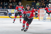 KELOWNA, CANADA - DECEMBER 6: Tyson Baillie #24 of Kelowna Rockets skates against the Prince Albert Raiders on December 6, 2014 at Prospera Place in Kelowna, British Columbia, Canada.  (Photo by Marissa Baecker/Shoot the Breeze)  *** Local Caption *** Tyson Baillie;