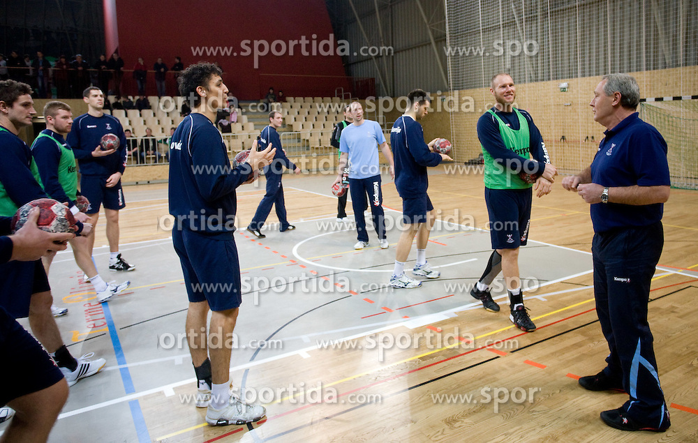 Jure Dobelsek, Ales Pajovic and Head coach Zvonimir Serdarusic - Noka at Open training session for the public of Slovenian handball National Men team before European Championships Austria 2010, on December 27, 2009, in Terme Olimia, Podcetrtek, Slovenia.  (Photo by Vid Ponikvar / Sportida)