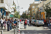 Friday afternoon at Sheinkin Street, Tel Aviv, is the trendiest street in the city, and the best place to experience the lives of typical Tel-Avivians. Sheinkin Street is especially known by the colorful quaint people strolling around, and by its unique shops, cafe' life and youthful ambiance. March 2007