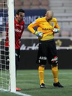 1.11.2014, Sonera Stadion, Helsinki.<br /> Suomen Cup 2013, loppuottelu Helsingin Jalkapalloklubi - FC Inter Turku.<br /> Tamas Gruborovics & Magnus Bahne - Inter