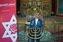© Licensed to London News Pictures . 22/09/2019. Brighton, UK. London mayor SADIQ KHAN speaks at a fringe event by the Jewish Labour Movement at middle Street Brighton Synagogue, during the second day of the 2019 Labour Party Conference from the Brighton Centre . Photo credit: Joel Goodman/LNP