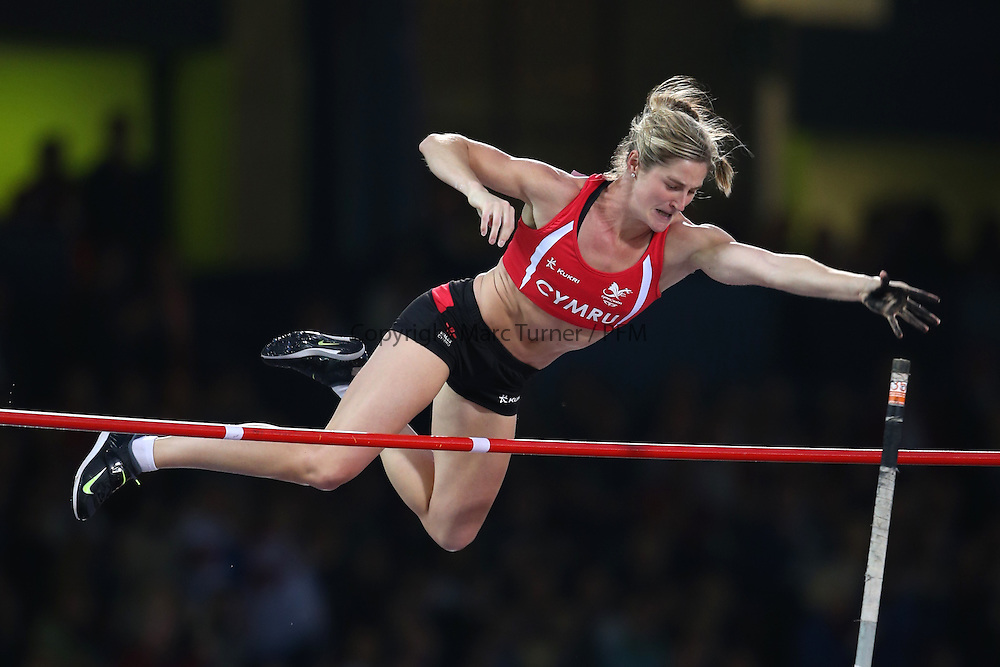 Glasgow, Scotland - August 02: Women's Pole Vault, Sally PEAKE ( WAL ). Athletics on Day 10 of the Glasgow 2014 Commonwealth Games at Hampden Park on August 02, 2014 in Glasgow, Scotland. <br /> <br /> (Photo  by Marc Turner/Capture The Event)