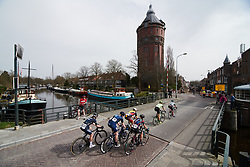 Lead group head back toward the city centre at Healthy Ageing Tour 2018 - Stage 5, a 94.3 km road race in Groningen on April 8, 2018. Photo by Sean Robinson/Velofocus.com