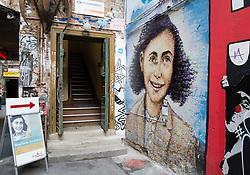 Exterior of Anne Frank exhibition Hackescher Markt Berlin Germany