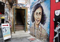 Exterior of Anne Frank exhibition Hackescher Markt Berlin Germany