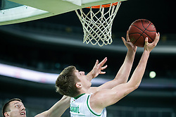 Luka Samanic of Petrol Olimpija during basketball match between KK Petrol Olimpija and KK Rogaska in Round #5 of Liga Nova KBM za prvaka 2018/19, on March 31, 2019, in Arena Stozice, Ljubljana, Slovenia. Photo by Vid Ponikvar / Sportida
