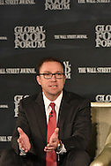 Mike Frank, Senior Vice President, Chief Commercial Officer of Monsanto Company, at the The Wall Street Journal 2016 GLOBAL FOOD FORUM in New York City on October 6, 2016. (photo by Gabe Palacio)