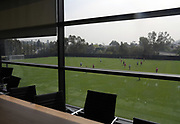 Apr 4, 2018; Los Angeles, CA, USA; General overall view of  the practice field from the conference room at the LAFC Performance Center on the campus of Cal State LA. The 30,000 square foot and $30 million facility will serve as home of the LAFC players, staff, coaches and academy.