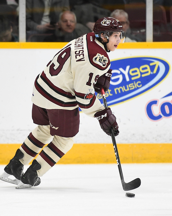 Semyon Der-Arguchintsev of the Peterborough Petes. Photo by Aaron Bell/OHL Images