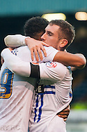 Danny Mayor of Bury (right) is congratulated by Tom Soares after scoring his sides second goal during the FA Cup match at Gigg Lane, Bury<br /> Picture by Matt Wilkinson/Focus Images Ltd 07814 960751<br /> 07/11/2015