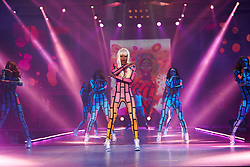 © Licensed to London News Pictures.  07/12/2012. BIRMINGHAM, UK. Dancers perform during the Fashion Theatre show at the Clothes Show Live event being held in the NEC, Birmingham. The show opens today and runs until Tuesday. Photo credit :  Cliff Hide/LNP