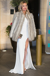 Photo Must Be Credited ©Alpha Press<br /> Laura Whitmore arrives at the EE British Academy Film Awards after party dinner at the Grosvenor House Hotel in London.