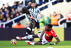 Paul Pogba of Manchester United tackles Mohamed Diame of Newcastle United - Mandatory by-line: Matt McNulty/JMP - 11/02/2018 - FOOTBALL - St James Park - Newcastle upon Tyne, England - Newcastle United v Manchester United - Premier League