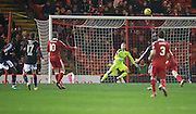 Aberdeen&rsquo;s Niall McGinn scores his side's second goal - Aberdeen v Dundee in the Ladbrokes Scottish Premiership at Pittodrie, Aberdeen. Photo: David Young<br /> <br />  - &copy; David Young - www.davidyoungphoto.co.uk - email: davidyoungphoto@gmail.com