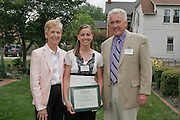 Photo D. .Scholarship recipient Kara Bobo (center) is shown with Larry and Mary Gates..... .Contact: Ohio University-Chillicothe Coordinator of Communications Jack Jeffery, (740) 707-1368. ..            Fourth Class of The Gates Foundation-Ross County Scholar?s Fund.Recipients Prepare to Follow Their Dreams and Aspirations. ..CHILLICOTHE, Ohio ? This year?s recipients of The Gates Foundation-Ross County Scholar?s Fund were announced today, May 16, during a ceremony at the Atwood House in Chillicothe.. .Eighteen Ross County students received scholarships this year, including 13 continuing scholars who have already embarked on their college careers and five students who will graduate from high school this spring.. .Jessica Ford, a fourth-year recipient of the scholarship, is heading into her senior year at Ohio University?s Athens campus and said she is incredibly thankful for the Gates? support.. .?It?s amazing to see this kind of generosity continue for the duration of my college years,? she said. ?I think it really speaks to their character. It?s neat to be a part of the Gates? first graduating class of scholarship recipients.?. .In 2004, Chillicothe native Larry A. Gates and his wife, Mary, established the scholarship fund to pave the way to a college education for students graduating from Ross County high schools. This is the fourth class to benefit from the scholarship fund, which will eventually total approximately $10 million.. .?Our decision to support scholarships is driven by a strong belief in young people and a deep belief in the power of education and learning,? Gates said.. .As a former senior vice president of human resources and administration for Philip Morris Companies, Gates traveled the globe, managing worldwide human resources for the multinational corporations.. .Although they gained an array of worldly experiences, Mary and Larry Gates never lost their perspective.. .?Living on the cusp of Appalachia you see the disparity. Many of our young peo