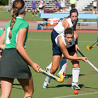 6 SEP 2010 -- FENTON, Mo. -- Marquette High School  field hockey player, Jamie Selman (36) works past several Nerinx Hall Academy Green players during the Gateway Field Hockey Labor Day Tournament at the A-B Center in Fenton, Mo., Monday Sept. 6, 2010.  The match ended tied 2-2.