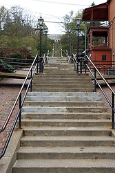 October 2009: scenic view of  the stair steps from Main Street to High Street in downtown Galena Illinois. Sights to see in and around Galena Illinois.