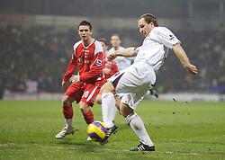Bolton, England - Wednesday, January 31, 2007: Bolton Wanderers' Henrik Pedersen shoots at the Charlton Athletic goal during the Premiership match at the Reebok Stadium. (Pic by David Rawcliffe/Propaganda)