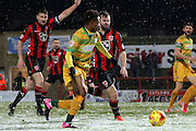 Yeovil Midfielder Iffy Allen during the Sky Bet League 2 match between Morecambe and Yeovil Town at the Globe Arena, Morecambe, England on 16 January 2016. Photo by Pete Burns.