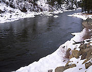 River, Rapids, Winter, Snow, Salmon River, North Fork, Idaho