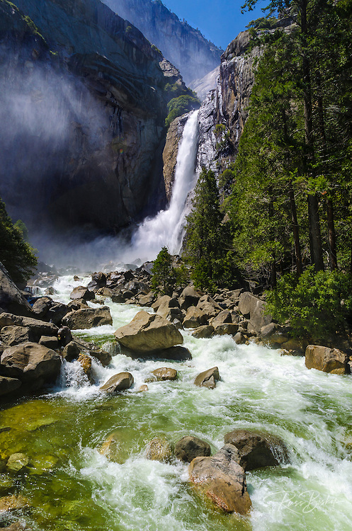 Lower Yosemite Falls,Yosemite National Park, California USA