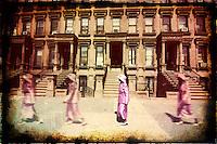 New-York City, Harlem. Sunday morning.<br /> Right Side