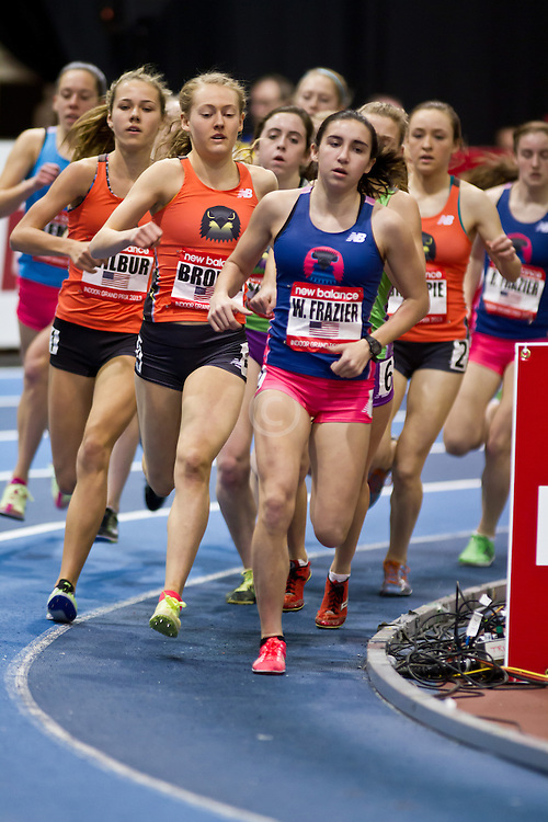New Balance Indoor Grand Prix track meet: Junior GIrls Mile, Frazier leads pack