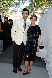 JO ELVN and DAVID GANDY at the Glamour Women of the Year Awards in association with Pandora held in Berkeley Square Gardens, London on 4th June 2013.