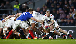 February 10, 2019 - London, England, United Kingdom - Dan Robson of England during the Guiness 6 Nations Rugby match between England and France at Twickenham  Stadium on February 10th, 2019 in Twickenham, London,  England. (Credit Image: © Action Foto Sport/NurPhoto via ZUMA Press)