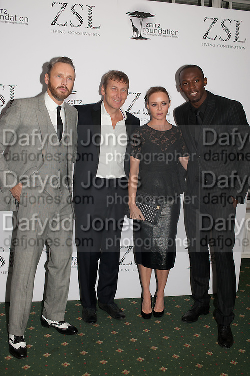 ALASDAIR WILLIS; JOCHEN ZEITZ; STELLA MCCARTNEY; USAIN BOLT Fundraising Gala for the Zeitz foundation and Zoological Society of London hosted by Usain Bolt. . London Zoo. Regent's Park. London. 22 November 2012.